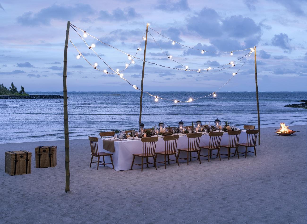 Dine by Design Private Beach Setup