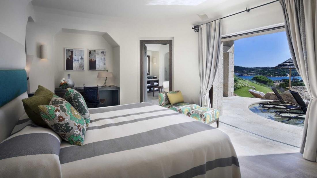 Otelin yatak odalarından biri
