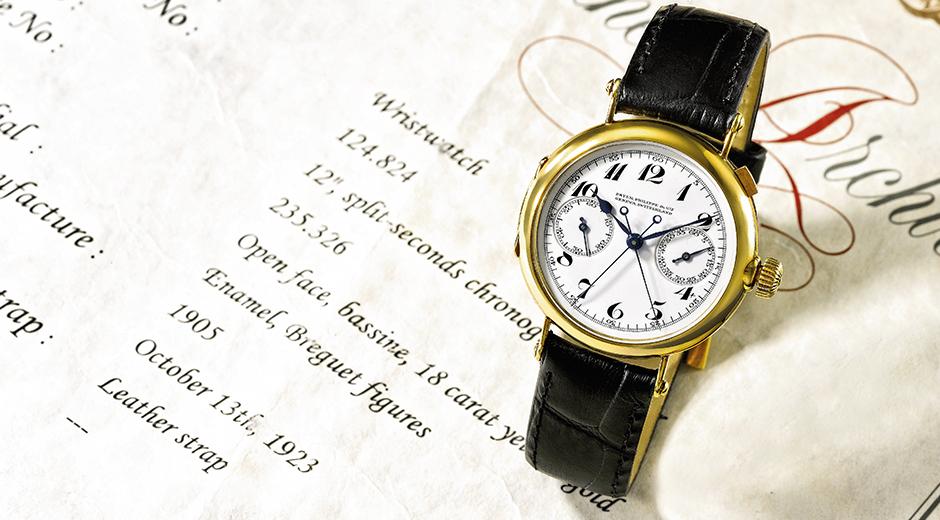 Dünyanın ilk rattrapante kronograf kol saati (1923). 5959 referans numaralı saatin hem görünüşü hem de mekanizması bu saati temel alır.
