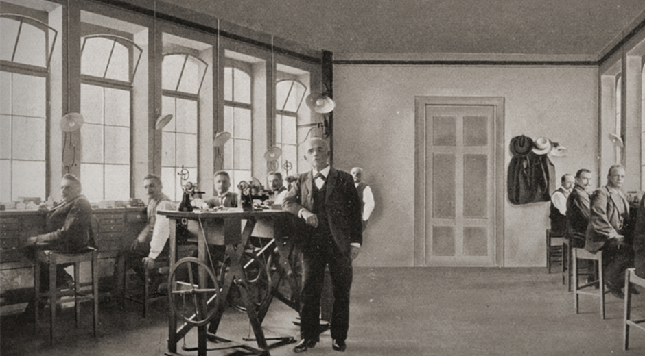1845 - A. Lange & Söhne Atölyesinde