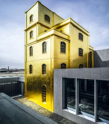 Milano'da yer alan Fondazione Prada'nın mimari görünümü.