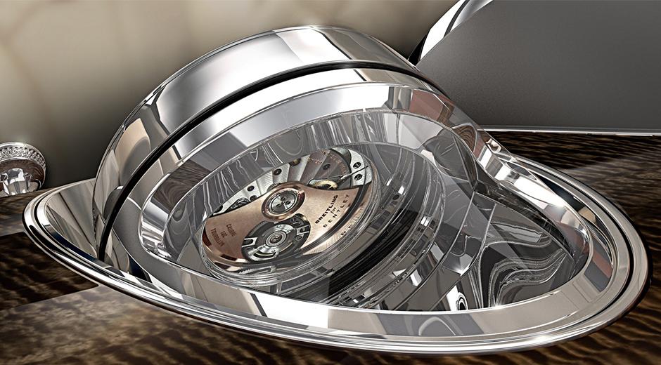 Otomobil üreticisinin yeni lüks SUV'ında göründüğü haliyle Breitling for Bentley tourbillon konsol saati