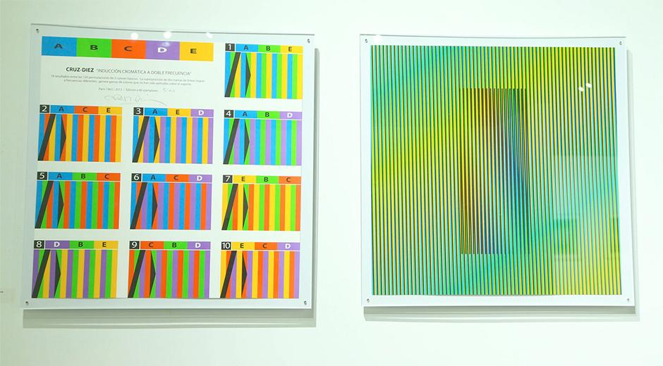Cruz-Diez'in Art Basel'de sergilenen çalışmalarından