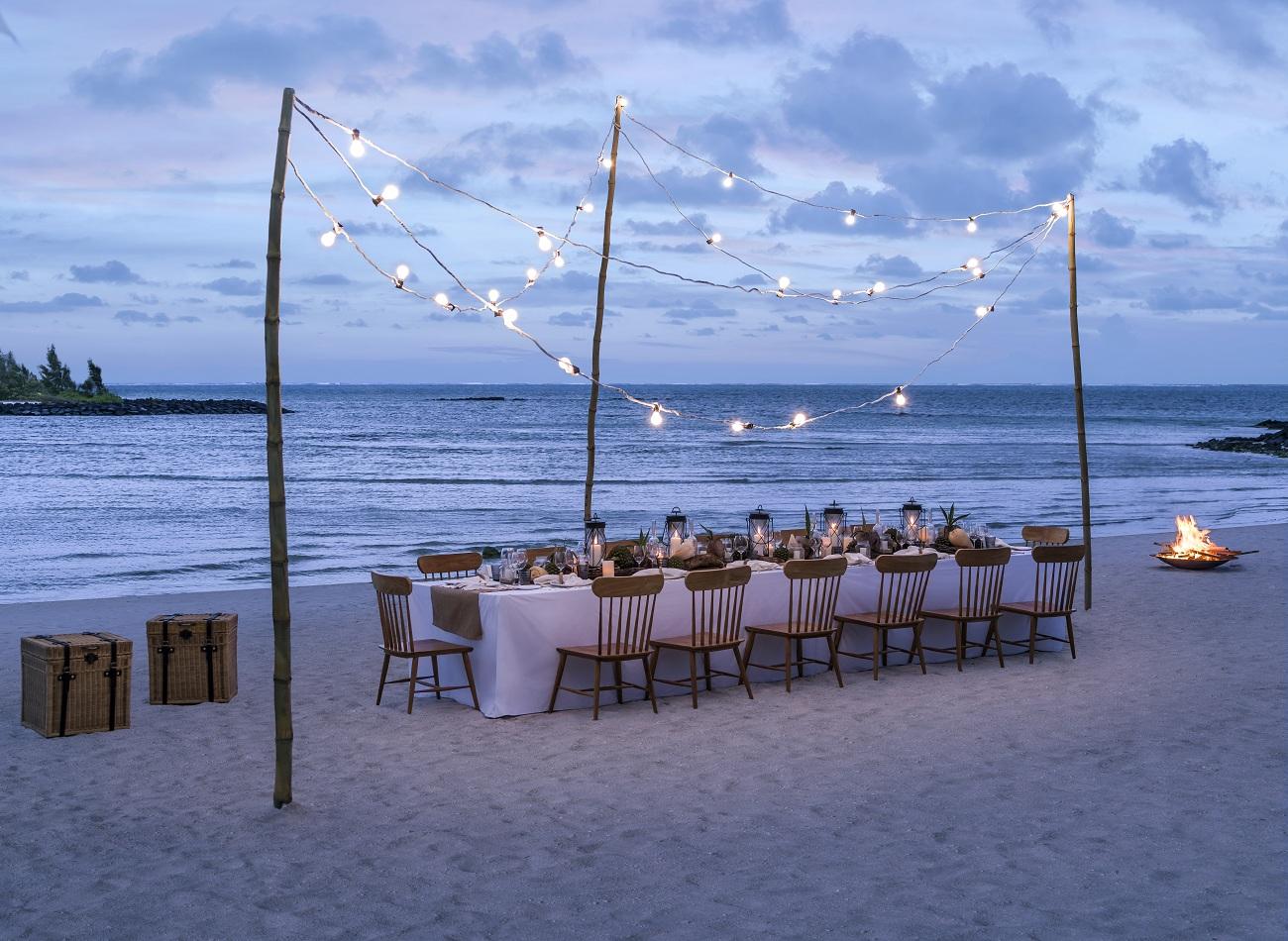 Dine by Design Private Beach Setup