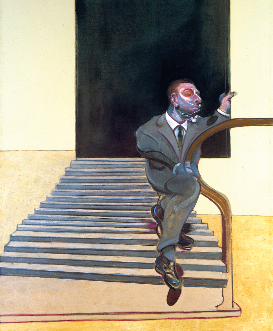 Francis Bacon Portrait of a Man Walking Down Steps, 1972 Oil on canvas The Estate of Francis Bacon. All rights reserved, DACS 2016. Photo: Prudence Cuming Associates Ltd